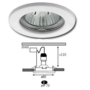 Lot de 3 spots encastrables fixes blancs ampoules 50w 230v gu10 - Monter spot encastrable ...