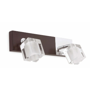 Applique ALAMO FARO incl 2x40W  G9 Chrome/Bois