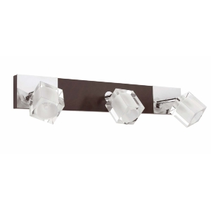Applique murale ALAMO FARO incl 3x40W  G9 Chrome/Bois