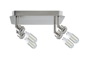 Plafonnier LED DecoSystems PAULMANN incl 4x3W LED GZ10/GU10 230V