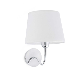 Applique LARA FARO max 1x40W E14 230V Blanc/Chrome
