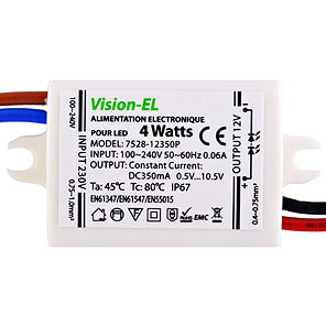Alimentation LED 4W 240V 12V DC