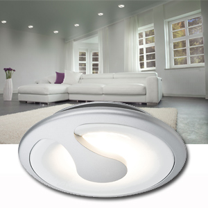 spot led encastrable 5w 6va 100 blanc chaud 3000 k chrome mat paulmann. Black Bedroom Furniture Sets. Home Design Ideas