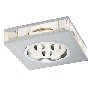 Kit 3 Spots encastrables LED 3x3W 12V + alimentation PAULMANN LIRO SQUARE