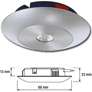 spot led extra plat ledvance downlight s osram 230v 6 5 w neutre gris. Black Bedroom Furniture Sets. Home Design Ideas