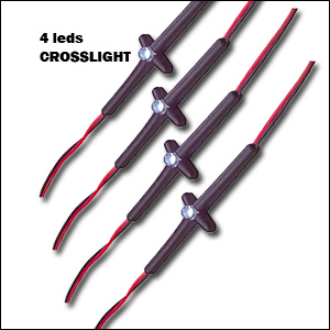 LED CROSSLIGHT EXTRA PAULMANN Kit encastrement 4  x LEDS