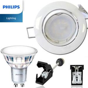 Spot led pour cuisine ampoule led 5 spots led cob gu10 5w for Carrelage adhesif salle de bain avec achat projecteur led