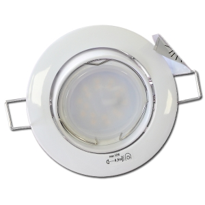 Spot Led GU10 Encastrable Orientable Blanc Led 5W rendu 35W 120° 3000K