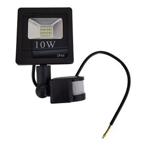 Projecteur LED detecteur de mouvement 10W blanc neutre IP66.