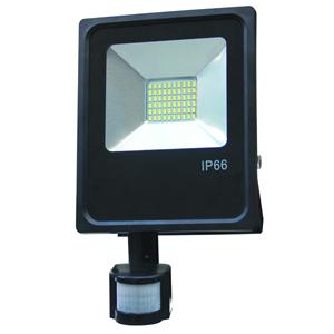 projecteur led detecteur de mouvement 50w blanc chaud ip66. Black Bedroom Furniture Sets. Home Design Ideas