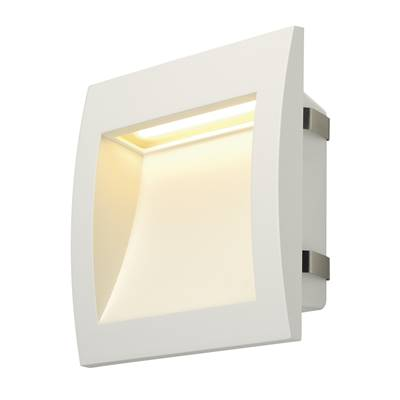 DOWNUNDER OUT LED L, encastré mural blanc, LED 0.96W 3000K  SLV