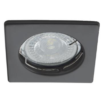 Spot encastrable carré Noir KANLUX Support pour LED 12V ou 2230V