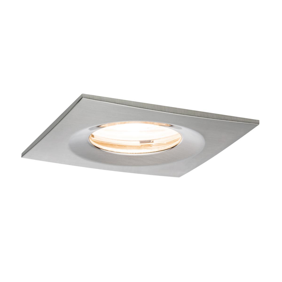 Spot led ip65 encastrable dimmable acier carr 7w 230v - Spot led ip65 12v ...