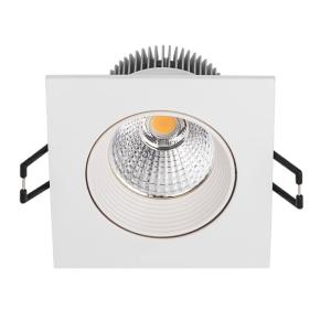 Spot led encastrable 8.5W = 50W Carré Blanc chaud