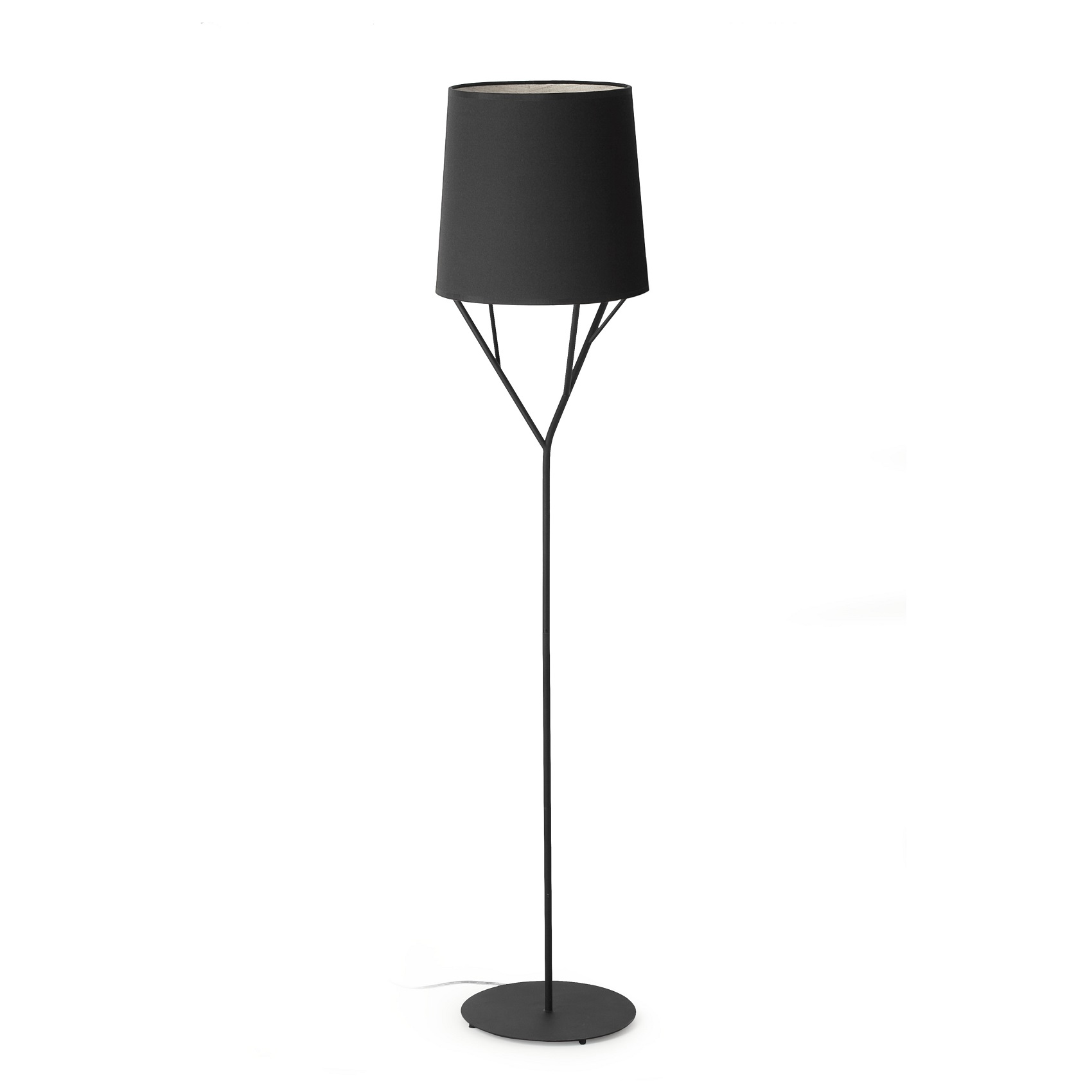 Lampadaire design int rieur tree faro noir for Lampadaire interieur design