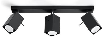 Plafonnier MERIDA 3 noir Sollux Lighting SL0101