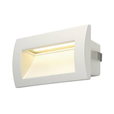 DOWNUNDER OUT LED M, encastré mural blanc, LED 0.96W 3000K SLV
