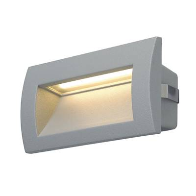 DOWNUNDER OUT LED M, encastré mural gris argent, LED 0.96W 3000K SLV