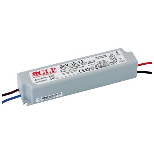 Alimentation électronique LED GLP 36W 240V/12VDC IP67 SELV