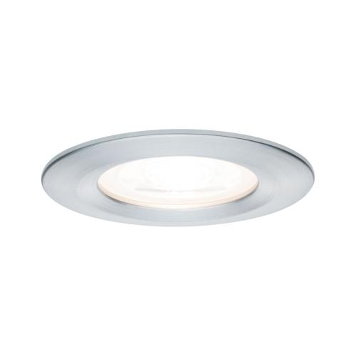 Spot LED encastrable 230V Alu tourné IP44 6.5W GU10 Paulmann 93443