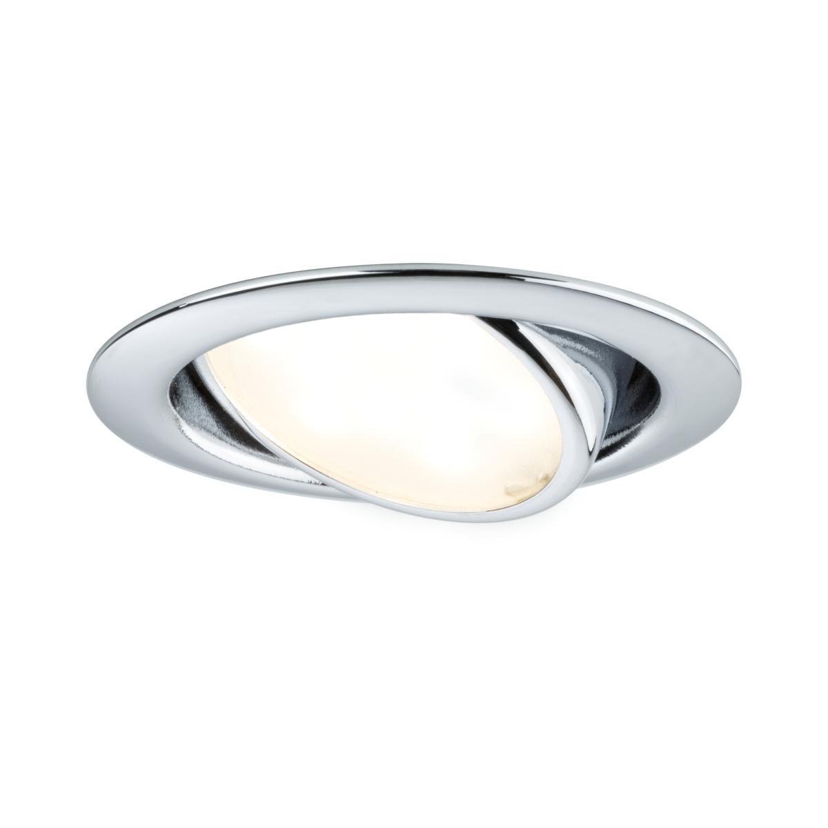 spot led extra plat encastrable orientable 42w chrom paulmann 92088