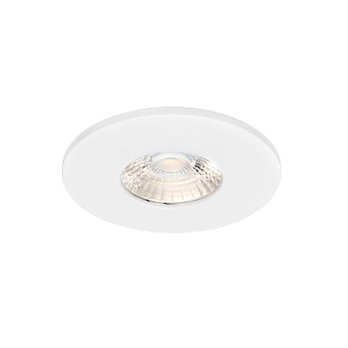 Spot 6W 3000K  RT2012 ARIC blanc recouvrable tout isolant dimmable IP65 EF6 1101
