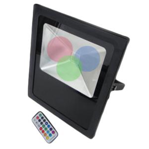 projecteur led rgb 10w exterieur avec t l commande ip66. Black Bedroom Furniture Sets. Home Design Ideas