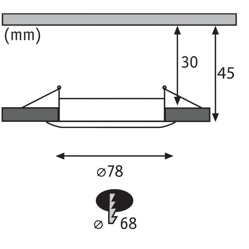 spot led encastrable dimmable slim coin 6 8w 230v ip44 paulmann 93900. Black Bedroom Furniture Sets. Home Design Ideas