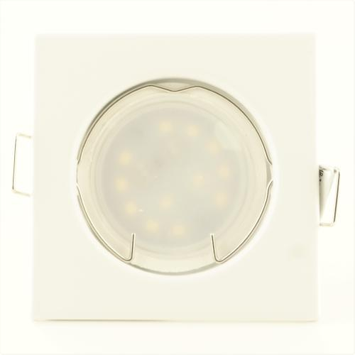 Spot Led Encastrable Carré Blanc Led 7W rendu 50W 120° Blanc Chaud