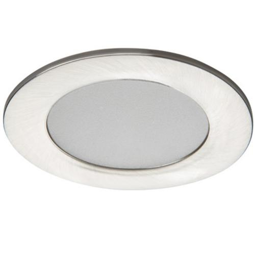 Spot LED nickel satiné à encastrer IP44 4.5W 100° 230V Blanc neutre 4000 K.