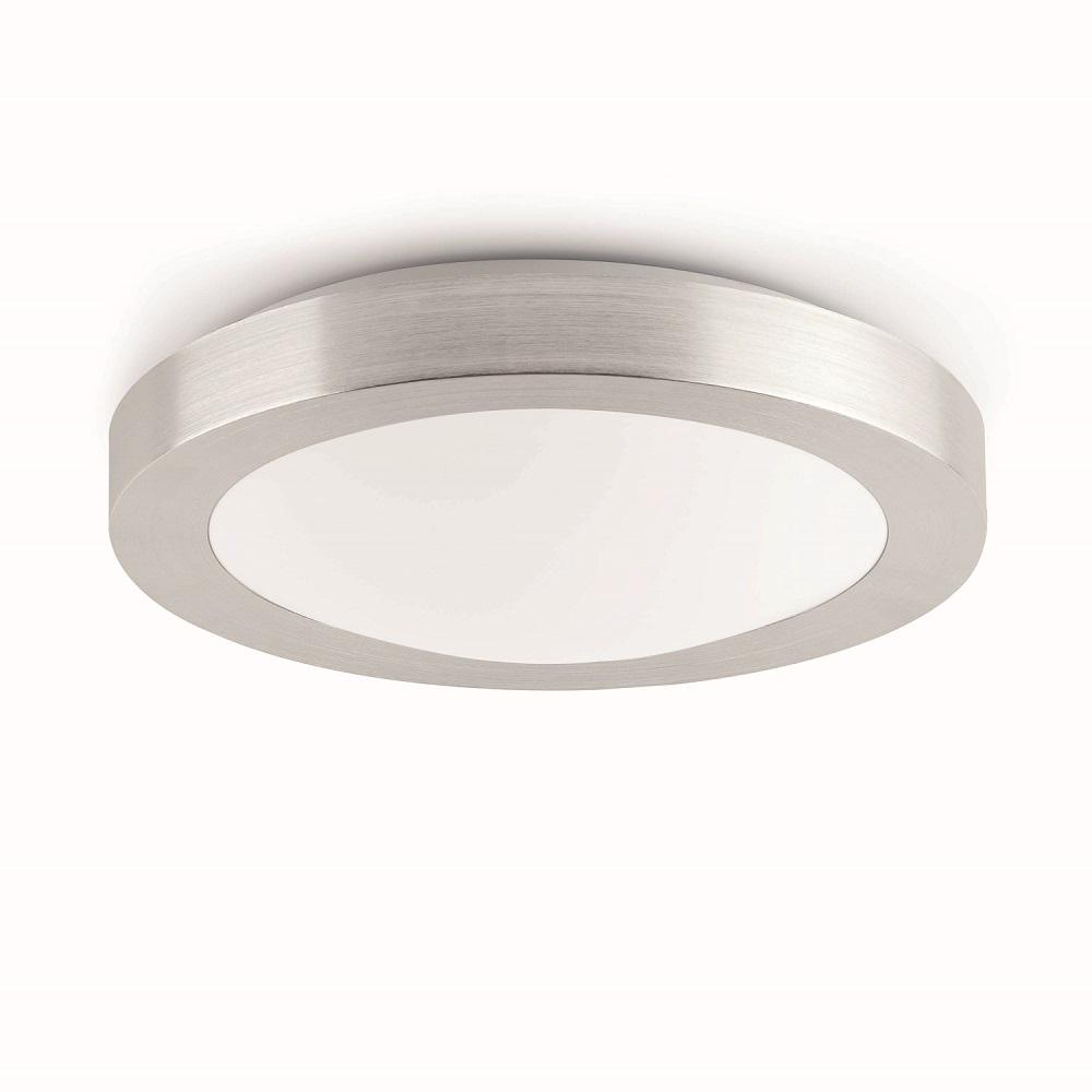 plafonnier salle de bain faro logos 1 ip44 max 1x20w 230v e27 nickel matt