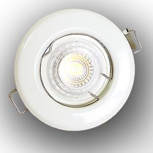 Spot Led GU10 Encastrable Blanc Led 5W rendu 50W 38° Blanc Chaud