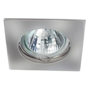 Spot encastrable carré Chrome Brillant pour LED