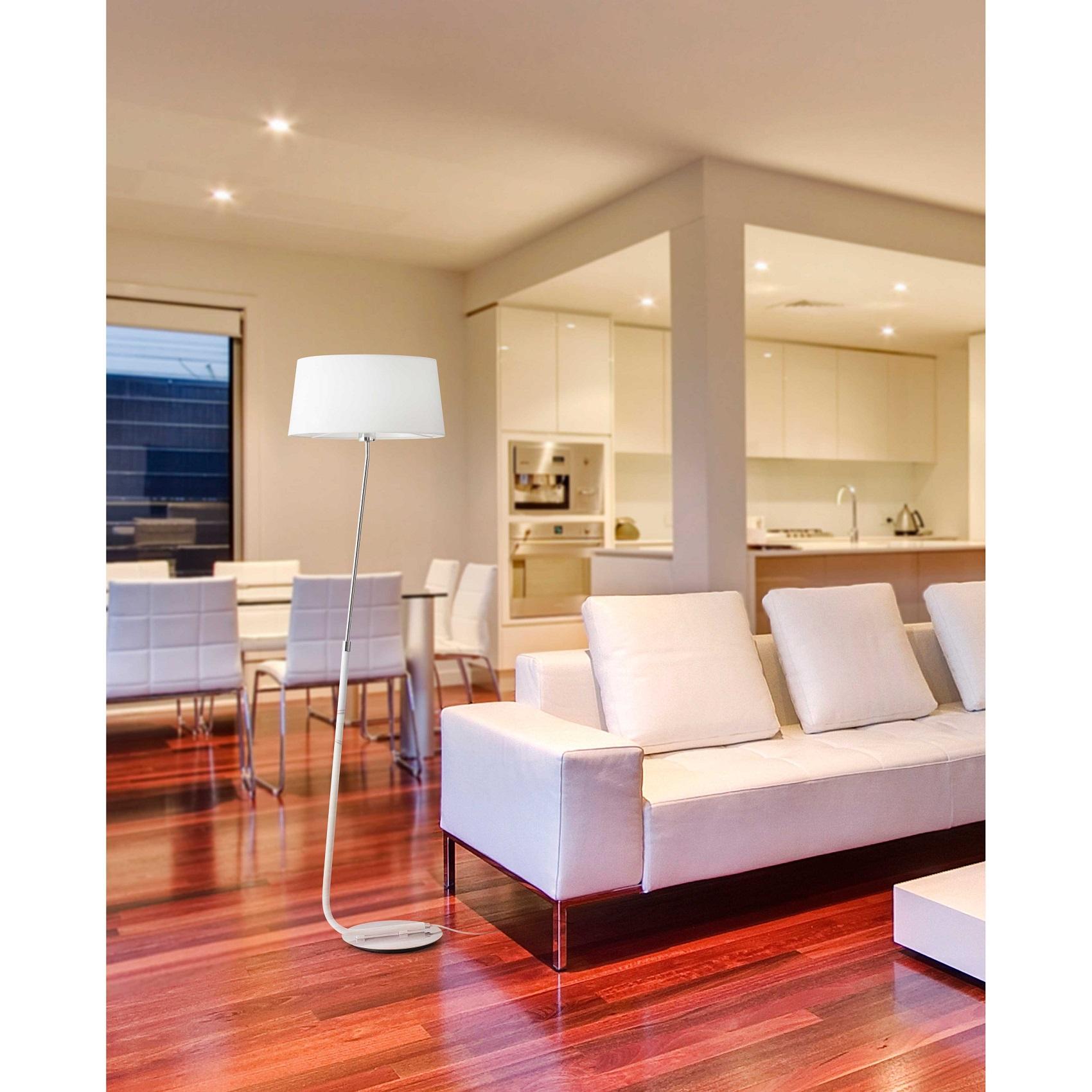 lampadaire design int rieur hotel faro blanc. Black Bedroom Furniture Sets. Home Design Ideas