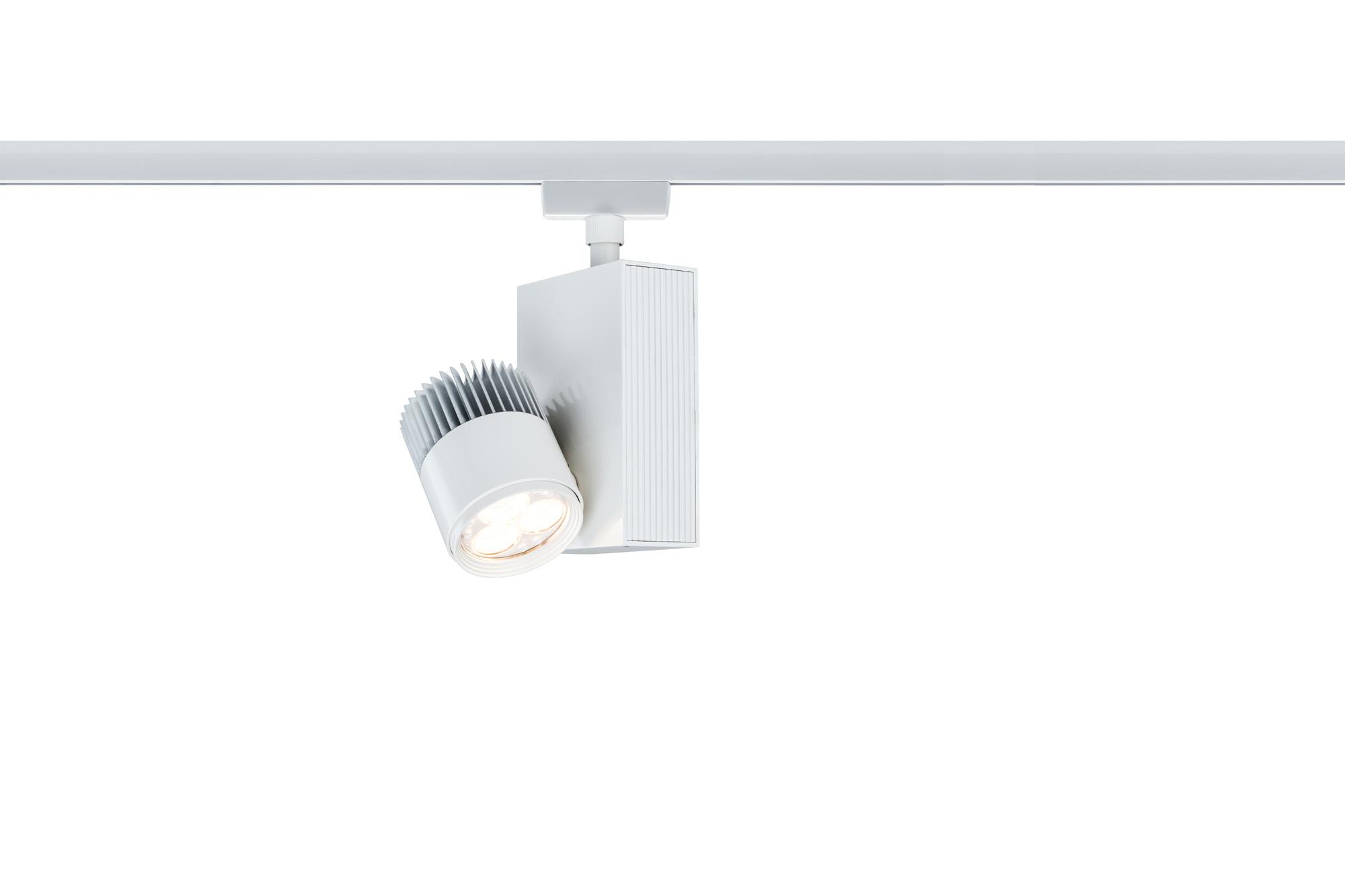urail spot sur rail led tecled blanc 9w paulmann 95163. Black Bedroom Furniture Sets. Home Design Ideas