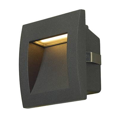 DOWNUNDER OUT LED S, encastré mural gris anthracite, LED 0.96W 3000K SLV