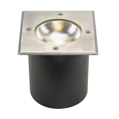 ROCCI 125 CARRE 6W LED, encastré de sol ext., Inox 316, LED 3000K IP67 SLV
