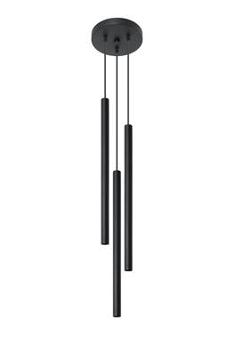 Lampe suspension PASTELO 3P noir Sollux Lighting SL0471