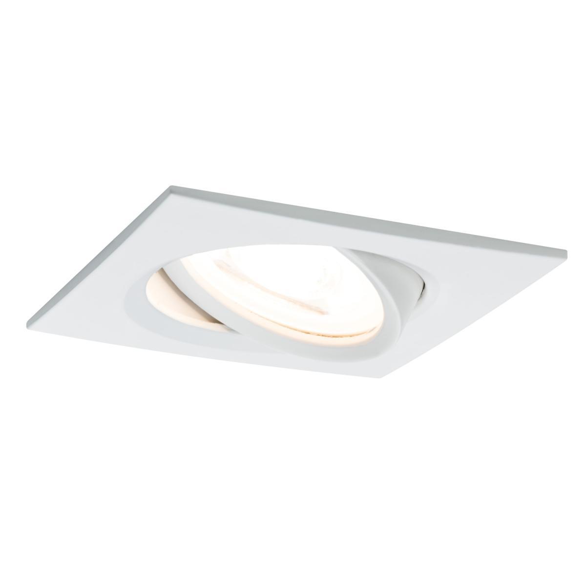Croissant Spot LED encastrable carré orientable dimmable 220V Blanc 7W GU10 DE-61