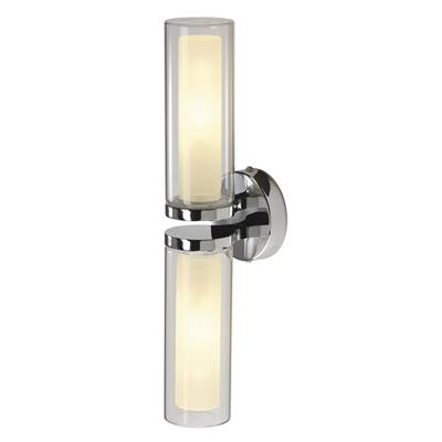WL 106 DOUBLE, applique, chrome, verre, 2x E14, max. 2x 40W, IP44 SLV