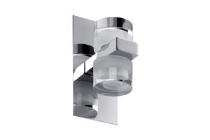 Applique diadem led salle de bain paulmann ip44 2x3.5w 230v chrome