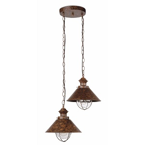 Suspension extérieure Nautica FARO IP33 Marron rouille.