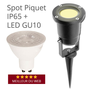 Spot Piquet LED 5W extérieur IP65 led GU10 interchangeable