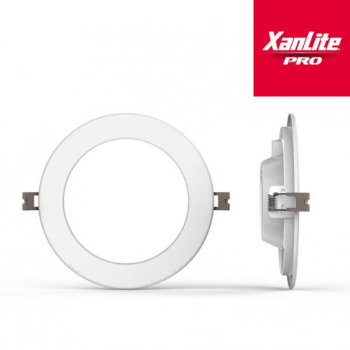 Dalle LED 18W Extra-plat Rond 1500 lm 220 mm Blanc neutre XANLITE PRO