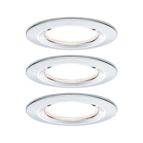 Lot de 3 Spots LED encastrables Nova LED Coin IP44 6.5W 230V PAULMANN 93463