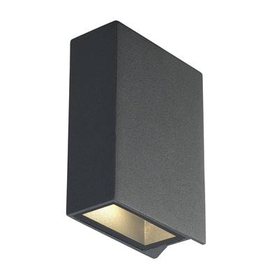 QUAD 2 applique, carrée, anthracite, LED, 2x3W, 3000K, up-down SLV