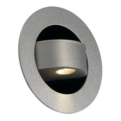 GILALED applique, gris argent, 3W LED, 3000K, témoin LED bleu en position OFF SLV