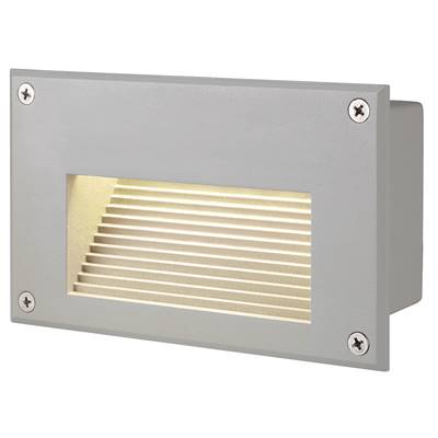 BRICK DOWNUNDER LED, encastré, rectangulaire, gris argent, LED 3000K SLV