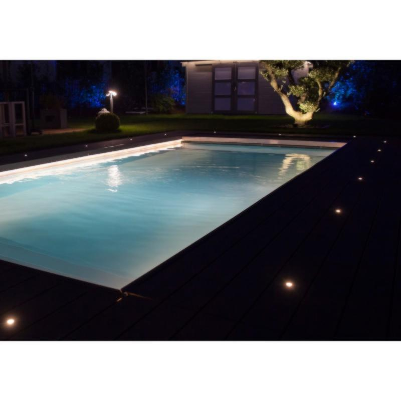 Spot terrasse piscine 12v led ip67 kit de 6 spot led 6000k for Eclairage exterieur 12v