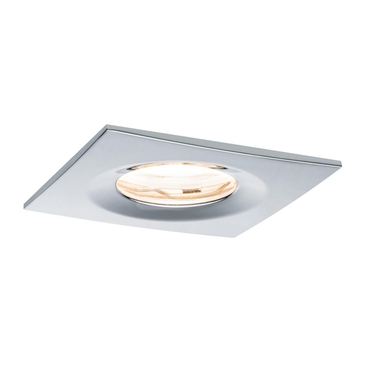 spot led ip65 encastrable dimmable chrom carr 7w 230v. Black Bedroom Furniture Sets. Home Design Ideas